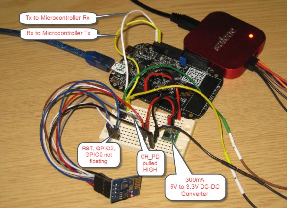 Wiring Setup with FRDM-KL25Z and ESP8266