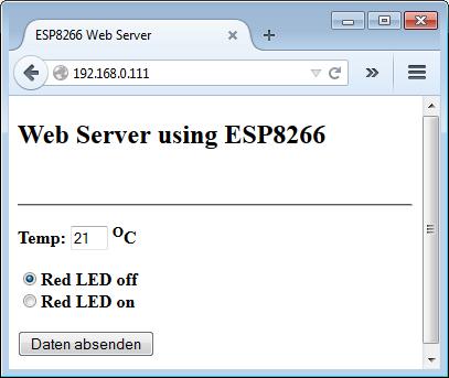WSP8266 Web Server