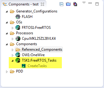 FreeRTOS Tasks Component
