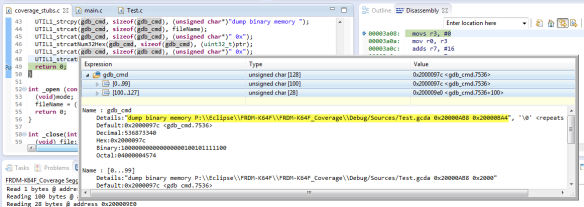 Code Coverage for Embedded Target with Eclipse, gcc and gcov