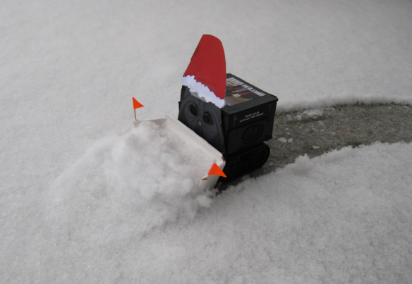 Snow Plowing Sumo Bot