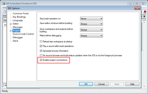 Enable Project Connections