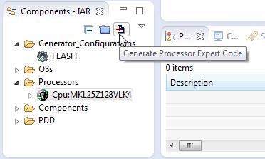 Generate Processor Expert Code