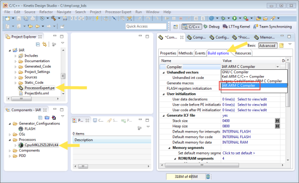 how to run a program in iar embedded workbench