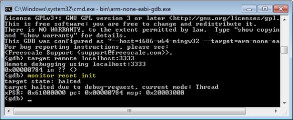 gdb monitor reset
