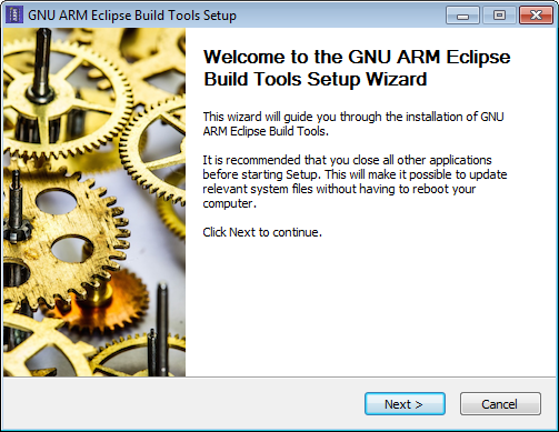 GNU ARM Eclipse Build Tools Installer