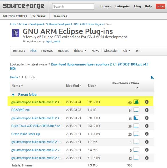 GNU ARM Eclipse Build Tools