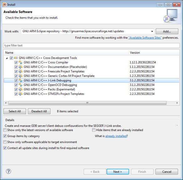 GNU ARM Eclipse Plugins