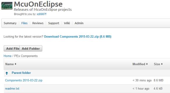 SourceForge McuOnEclipse