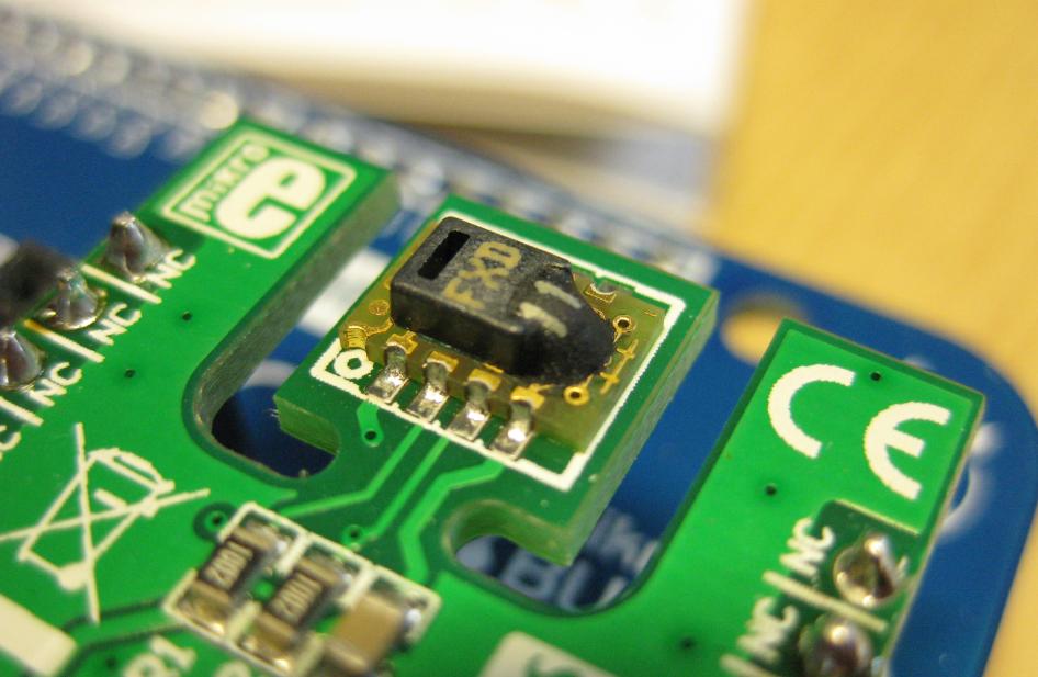 Sensirion SHT11 Temperature and Humidity Sensor on a