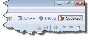 CodeRed Debug Perspective in Toolbar