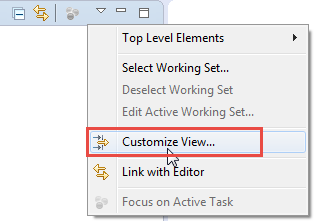 Customize Project Explorer View