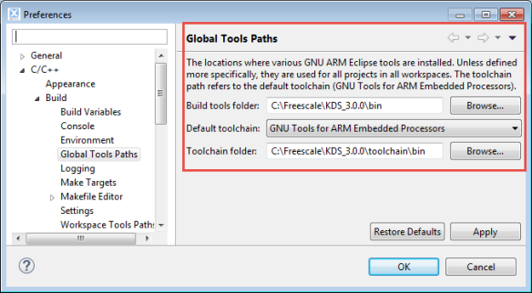 Global Tools Path