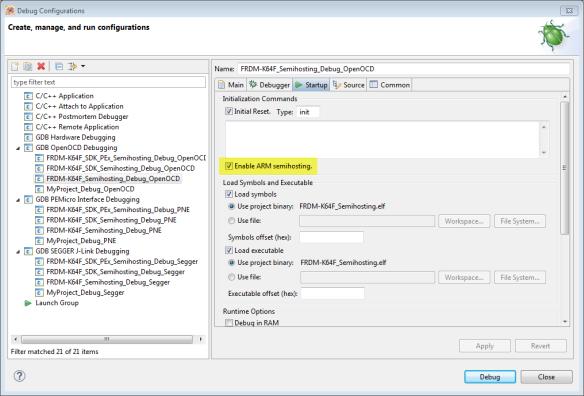 Semihosting in OpenOCD