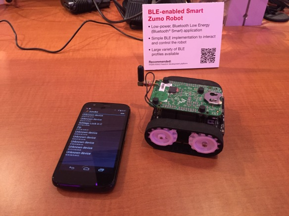 Zumo robot with BLE