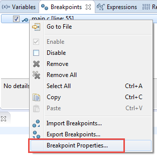 Breakpoint Properties