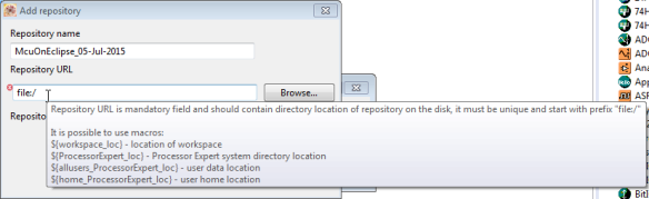 File location for repository
