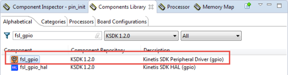 fsl_gipo SDK Driver in Components Library