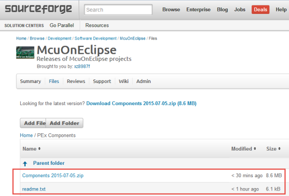 McuOneEclipse Components on SourceForge