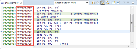 Opcodes in Disassembly View