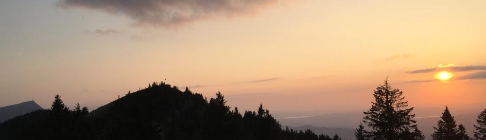 Rigi and Wildspitz with Sun