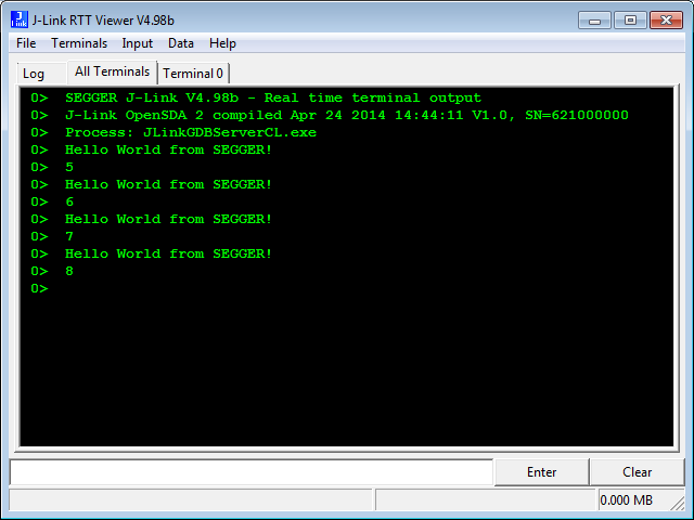 Using Segger Real Time Terminal (RTT) with Eclipse | MCU on Eclipse