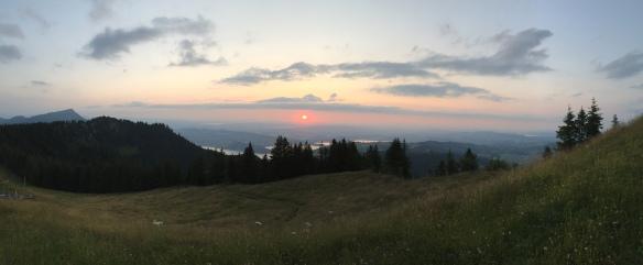 Sunset from Wildspitz