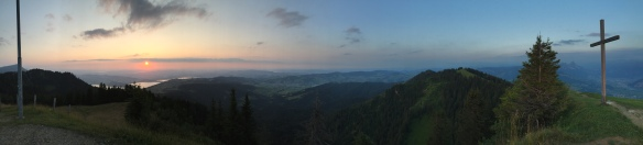 Wildspitz Sunset with Cross