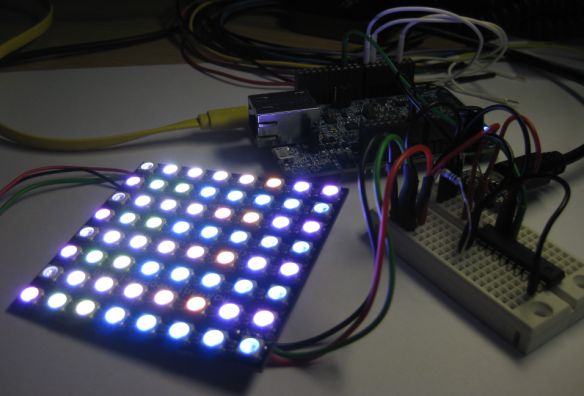 Adafruit 8x8 NeoPixel Shield with Freescale FRDM-K64F Board