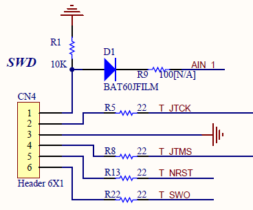 CN4 SWD Connector Schematic