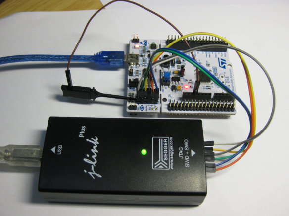 Connected J-Link with Nucleo Board