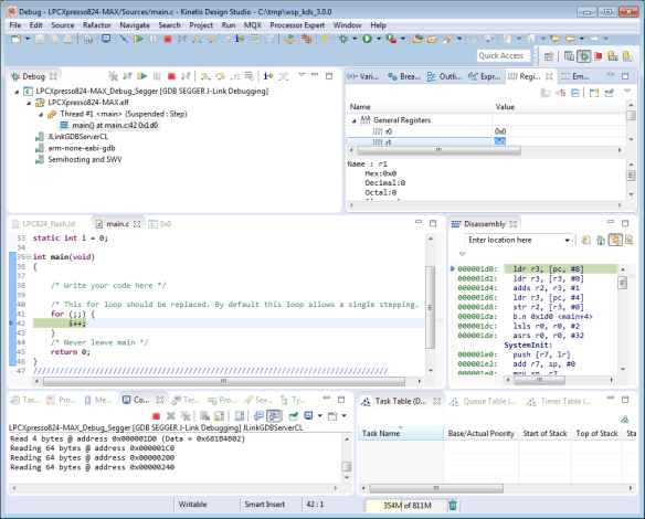 Debugging NXP Microcontroller with Freescale Tools