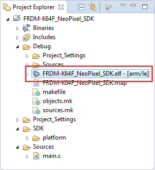 ELF File in Debug Folder