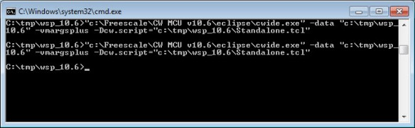 flashing with CodeWarrior from DOS