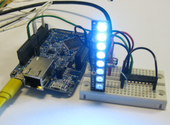 FRDM-K64F with NeoPixel Wiring with LEDs