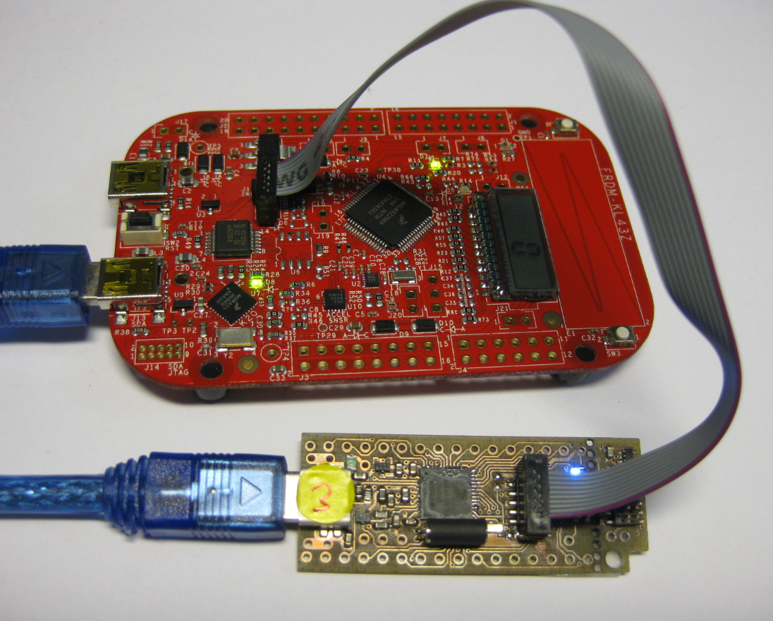 Using The Freescale Freedom Frdm Kl43z To Debug Other Boards Mcu Usb Cable Schematic Board Debugging Custom Tinyk20