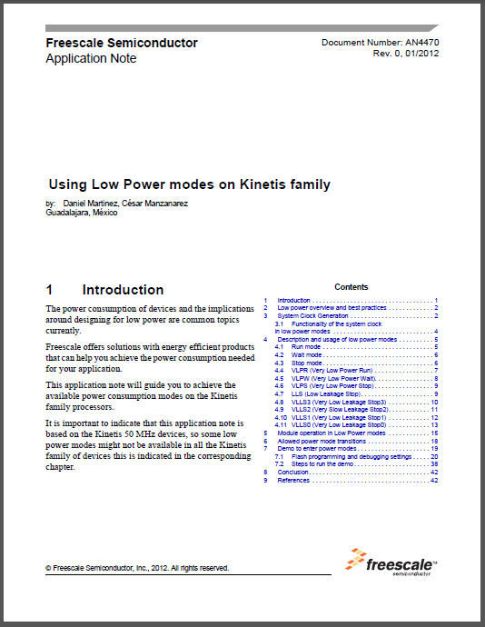 Freescale Application Note