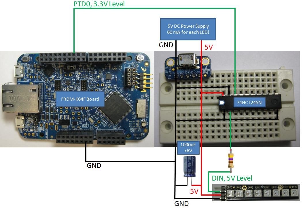 Tutorial: Adafruit WS2812B NeoPixels with the Freescale FRDM