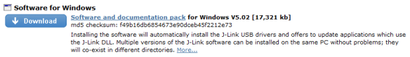J-Link Download (Windows)