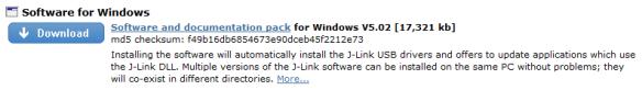 J-Link Download (Windows)