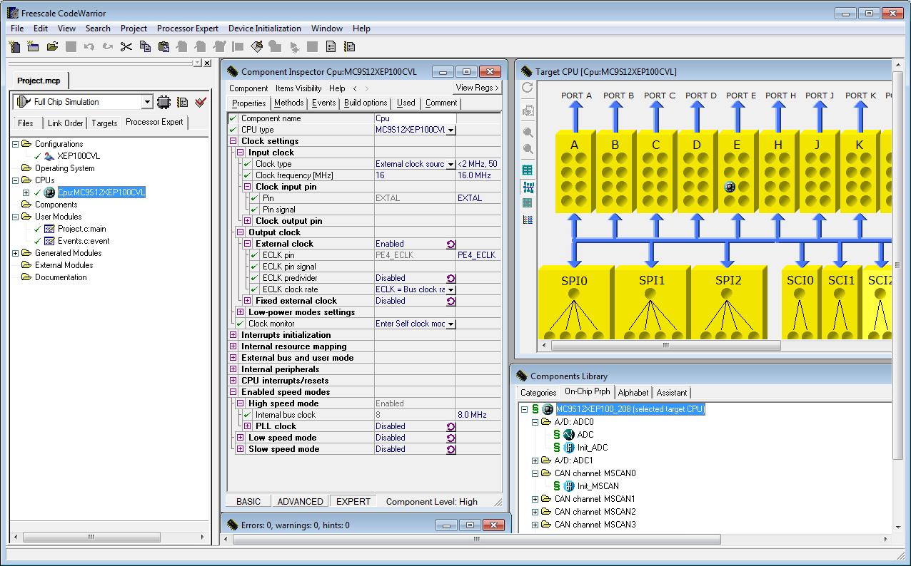 Kinetis Design Studio Processor Expert