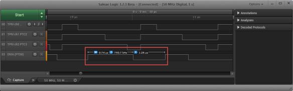 WS2812 Bit 1 Timing