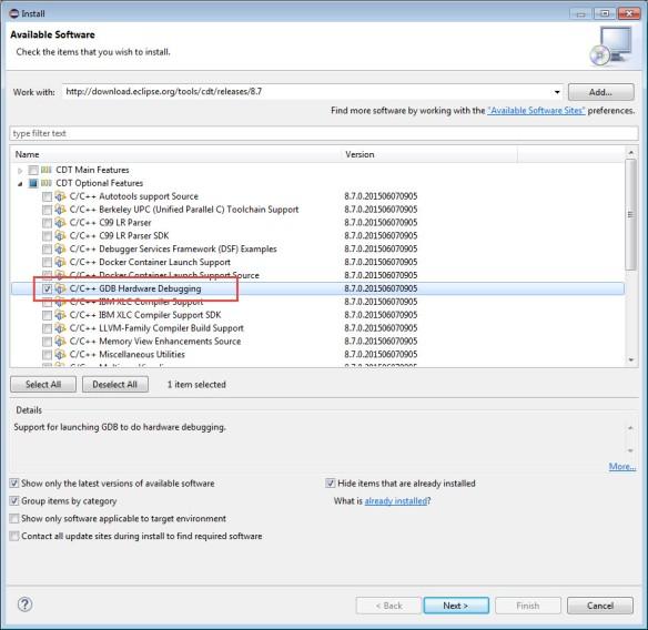 C and C++ GDB Hardware Debugging