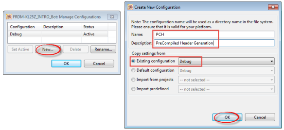 Creating new Build Configuration