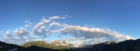 Evening Clouds Panorama