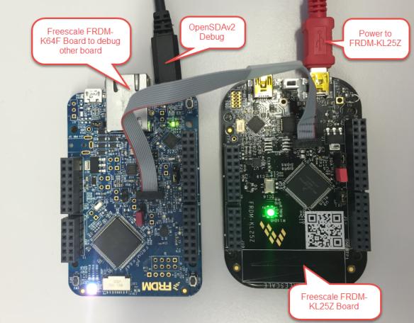 FRDM-K64F Board to Debug FRDM-KL25Z Board