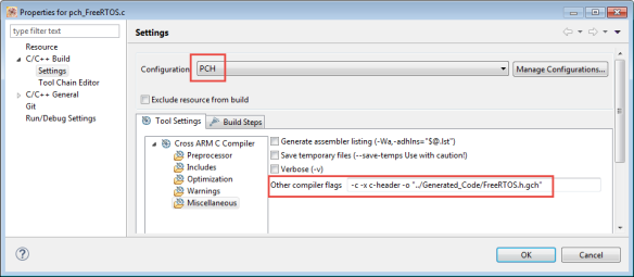 FreeRTOS Precompiled Header File