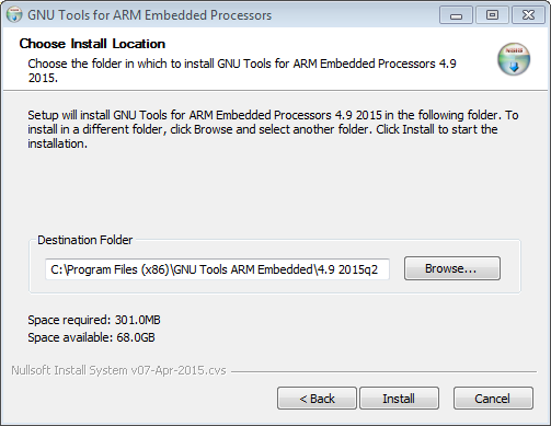Installer for GNU Tools for ARM Embedded Processors