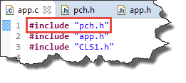 Using Precompiled Header file