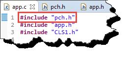 Using Precompiled Header file